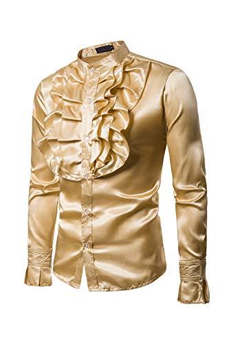 emden Customes Nachtclub Slim - Blumigen Gold XXL ()