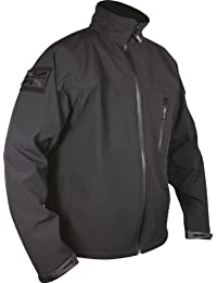 Web-Tex Tactical Soft Shell Jacket - Waterproof Shoftshell Material - Black - Medium