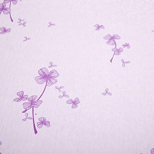 Zhzhco Kunststoff Selbstklebende Tapete Wohnzimmer Schlafzimmer Küche Erste-Hilfe-Rosa Lila Retro Tapeten 45Cm*10M