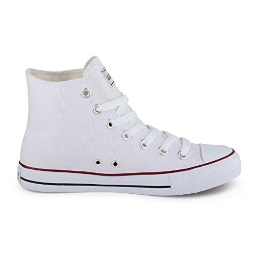 best-boots Donna Uomo scarpe da ginnastica bianco - bianco