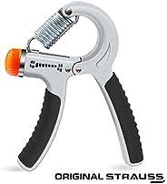 Strauss Adjustable Hand Grip Strengthener, (Grey/Black)