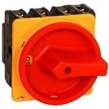 Hauptschalter 63A 3-polig Einbauversion, Frontbefestigung, Lasttrennschalter, Not-Aus-Schalter, JS3P63A-E