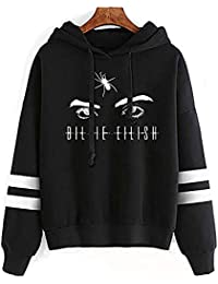 LING HUI Billie Eilish Hoodie Merch Sweatshirt Graphic Hoodies Pullover Lässige Mode Lustige Kapuzenpullover Tops Kleidung