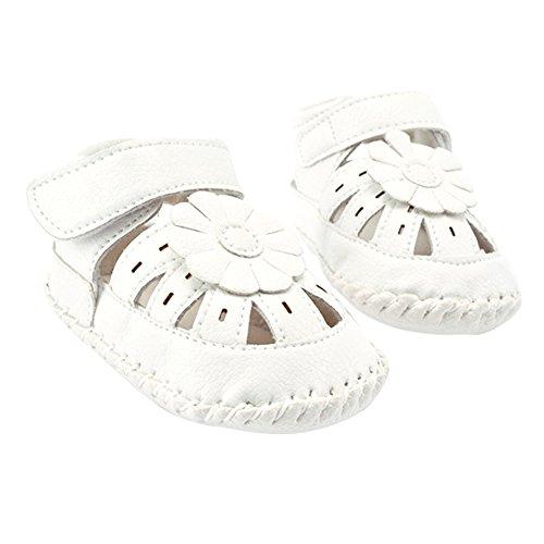 La Cabina Chaussures Bébé Fille garçon -Chaussure Bébé Fille Garçon Premier Pas -Chaussures Souples Confortable - Chaussures Antiglisse pour Printemps été (0-18 mois ) (0-6 mois, blanc) blanc