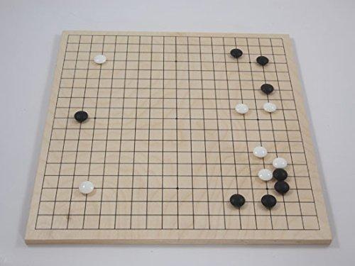 Go-Spiel: Birkenholzbrett, 19x19/13x13, Mulitplex, 11mm