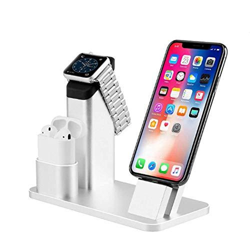 ZYNENMulti Winkel Aluminiumlegierung Handyhalter Lade Handy Basis Kompatibel mit Allen Handys und Tablets,Silver (Samsung Galaxy Tab 4 Zoll)