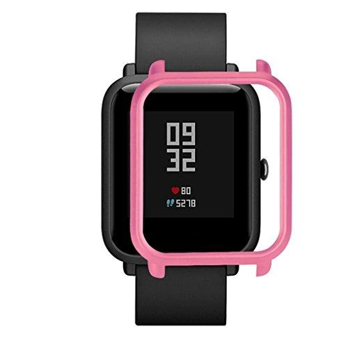 Logobeing Funda Completa para Huami Amazfit Bip Youth Watch Protección Suave de TPU de Silicona Smartwatch Protector (W)
