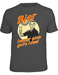 Original RAHMENLOS® T-Shirt für den Bier-Liebhaber: Bier, immer eine gute Idee.