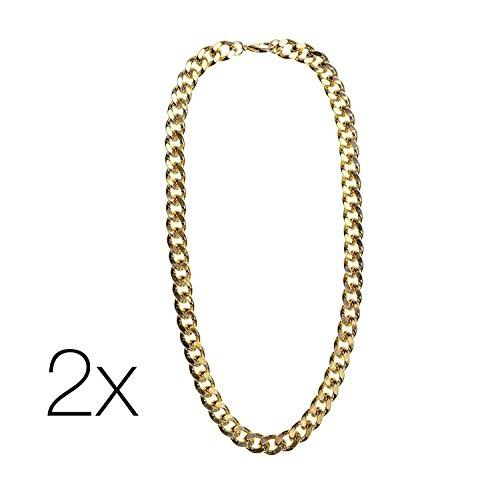 2x Goldketten Set Gangster Rapper ASSI Jogging Kleidung -