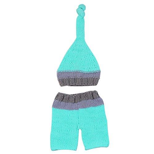 Umeicool Suit regalo Costume Elfi Breve Fotografia Props bambino appena nato caldo elastico Handmade del Crochet Hat Knitting