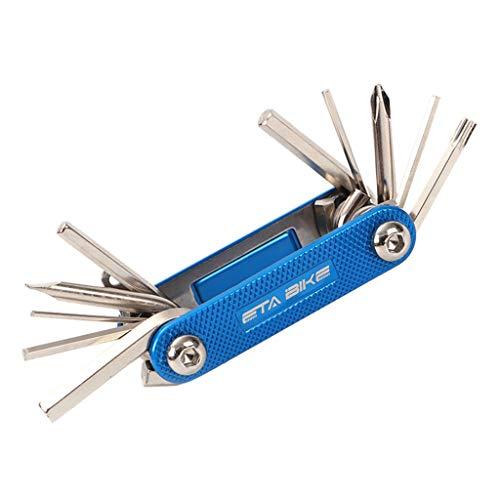 TriLance 11-in-1 Multifunktions Drehmomentschlüssel Set fürs Fahrrad | Steckschlüsselsatz | Mountainbike Wartungsset Fahrradreparatur Werkzeugsatz| Mini Ratschen Set Drehmomentschlüssel
