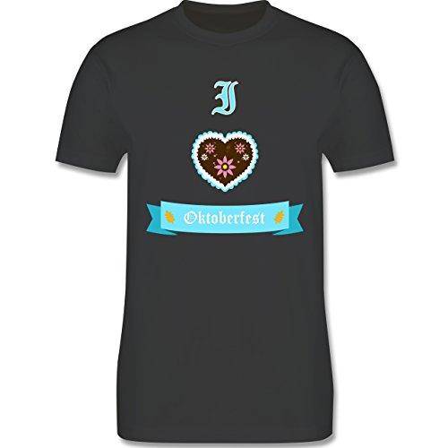 Oktoberfest Herren - I love Oktoberfest - Herren Premium T-Shirt Dunkelgrau