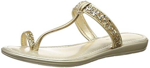 Lotus Damen Candida T-Spangen Sandalen Gold (Gold/Glitter)