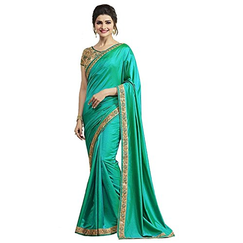 Desney Fashion Georgette Saree With Blouse Piece (Green)