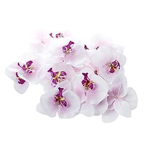 Sodial – Lote de 20 orquídeas artificiales (9cm) para decoración de boda o prendedor
