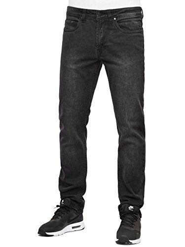 Reell Jeans Uomo Jeans straight fit Nova II Nero