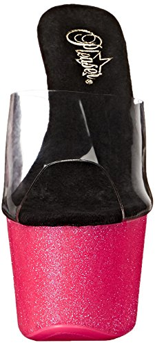 Pleaser Adore 701uvg, Sandales femme Rose (Clr/Neon H Pink Glitter)