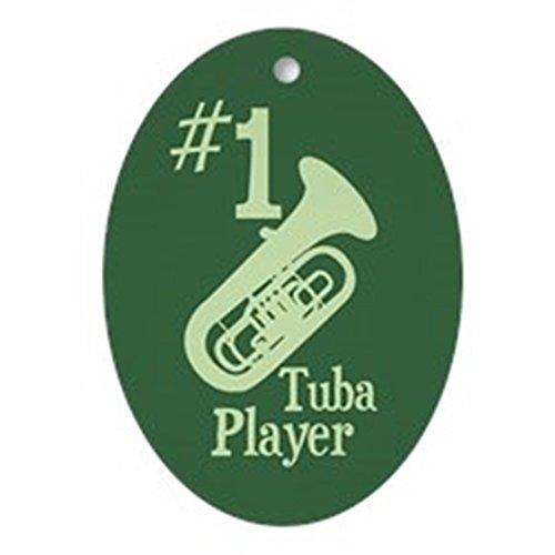 CafePress-# 1TUBA PLAYER Ornament (Oval)-oval Urlaub Weihnachten Ornament