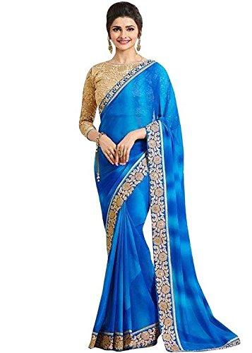Zareen Fashion Women's GEORGETTE Multi-Colour Saree ( ZC4007 )