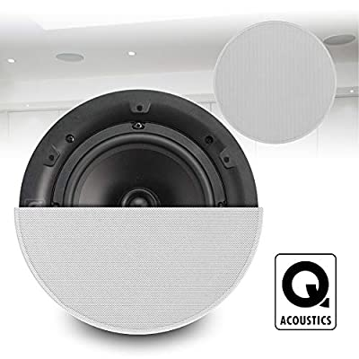 "Systemline Q Acoustics Qi65CB 6.5"" Professional Home Installation Ceiling Speakers (Pair) from Electromarket"