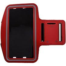 Brazalete Funda para Samsung Galaxy Note2Note3Note4Note5–SODIAL (R) Ciclismo Correr Deportes Gimnasio brazalete carcasa para Samsung Galaxy Note2Note3Note4Note5color rojo