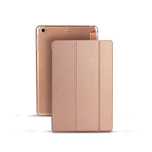Smart Cover Schutzhülle mit faltbarem Ständer, Schlaf-/Wach-Funktion, ultradünne Schutzhülle aus Leder mit matter Oberfläche, für iPad Mini 1/2/3 Rosy Gold Ipad Mini Folding Stand