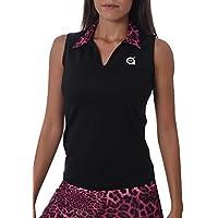 a40grados Sport & Style Puma Polo Manga Sisa de Tenis, Mujer, Negro/Rosa, 36