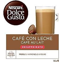 NESCAFÉ Dolce Gusto Café con leche descafeinado | Pack de 3 x 16 Cápsulas - Total: 48 Cápsulas de café