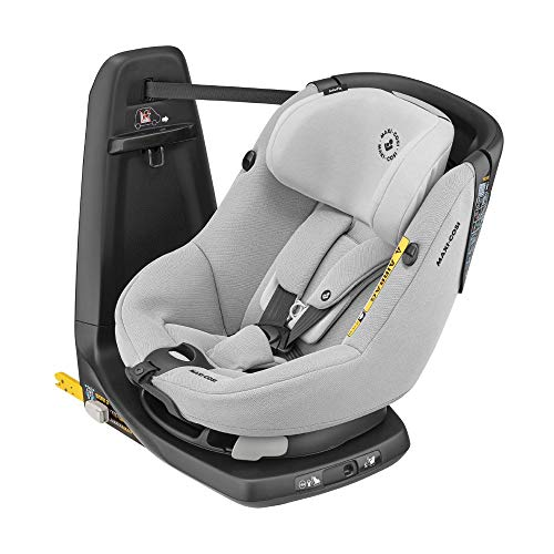 Maxi-Cosi 8020510110 axissfix-Kleinkindersitz, Drehbarer Kindersitz, 4 Monate - 4 Jahre, 61-105 cm, Authentic grau, 12.15 kg
