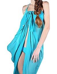 Damen Mädchen Sonnencreme Strand Schals übergroßen langen weichen Seidenschal Umhang