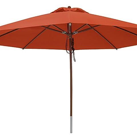 anndora® Sonnenschirm Marktschirm Gastronomie ø 4 m rund wasserabweisend - mit Winddach
