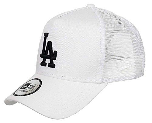 New Era - Los Angeles Dodgers - A-Frame Trucker Cap - Black White Edition - White - One-Size Sox Im Team Design