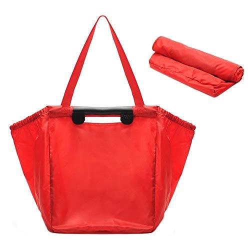 wendbare Tragetasche Einkaufswagen-Taschen und Lebensmittel-Organisator für Trolley Carts von Modern Day Living Schultertasche (Color : Red, Size : M) ()