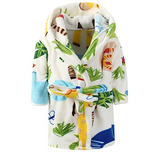 Kinder Jungen Mädchen Bademantel Schlafanzüge mit Kapuze Baby KIeinkinder Niedlich Karikatur Pyjamas Morgenmantel Nachtwäsche B 120
