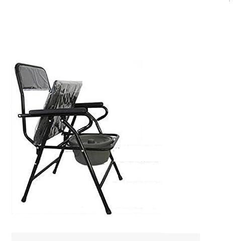 Asiento taburete mayores móviles COMODA sillas plegables Silla con inodoro