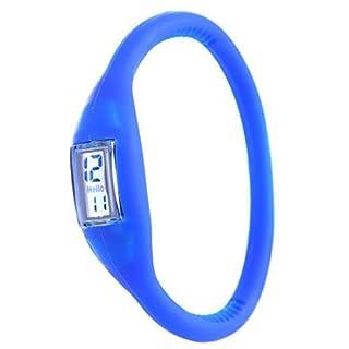 Amazing-Trading Sportuhr / Digitaluhr, Unisex, aus Silikon / Gummi, Anion, blau