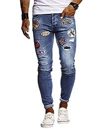 4970a06315 LEIF NELSON Herren Jeans Hose Stretch Jeanshosen Jogger 5-Pocket  Freizeithose Denim Slim Fit LN9275