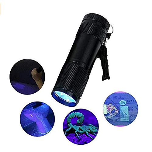 BOOYEUV Schwarzlicht Taschenlampe-Haustier-Urin-Detektor für Teppiche, Vorhänge,Bettwäsche,Sofas und Andere Stoffe-Falschgeld-Erkennung,Skorpione Fangen-Und fluoreszierenden Substa