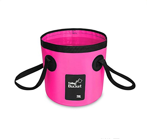 Multifunktional Eimer Wassereimer Outdoor Faltbar Waschbecken Faltschüssel Spülbecken 12L,20L,Pink,20L