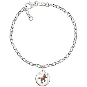 Herzengel Strength Armband für Mädchen mit Pferdchen 925er-Sterlingsilber rhodiniert Länge 16 cm