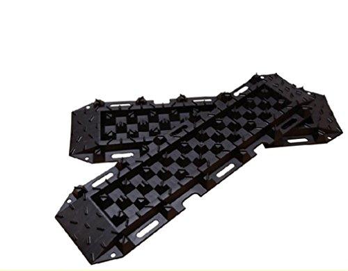 Nola Sang Traktions Anfahrhilfe Zugkraft Mat Notfall Car Escaper Reifen Pad High Stärkung Nylon Slip-beständig (2 Packung) (Gelb Front Pad)