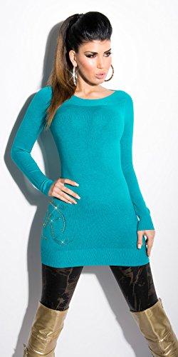 Koucla - Pull - Robe pull - Femme Turquoise