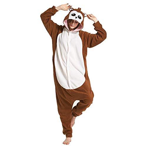 SHANGXIAN Erwachsene Unisex Tier Cosplay Pyjama Pavian Kostüme Homewear Onesies,S