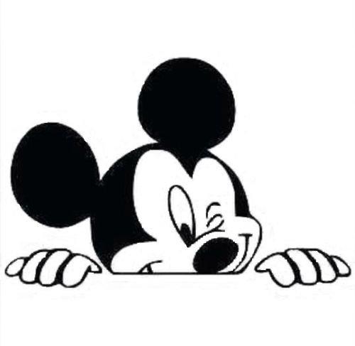 Autoaufkleber, aus Vinyl, Motiv Mickey Mouse, verschiedene Farben Schwarz Mickey-mouse-vinyl-aufkleber