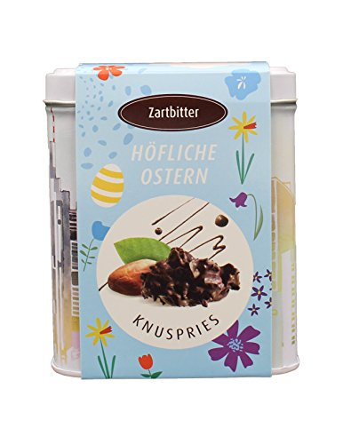Ostern KNUSPRIES Frankfurt Dose 125g Zartbitter aus 100% Edelschokolade