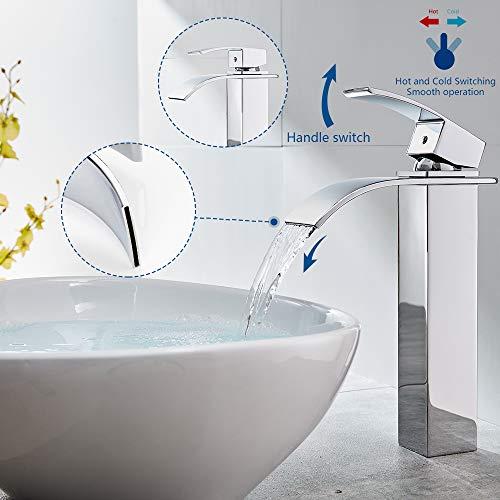 Auralum® Verlängerte Einhebel Waschtischarmatur - 5