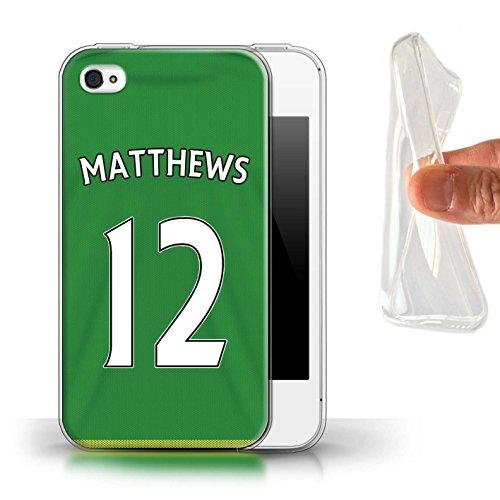 Offiziell Sunderland AFC Hülle / Gel TPU Case für Apple iPhone 4/4S / Pack 24pcs Muster / SAFC Trikot Away 15/16 Kollektion Matthews