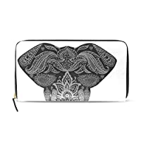 DEZIRO Elephant Mandala Clutch Real PU leather Wallet