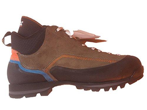 Gronell Scais Backpacker e Scarpe da Trekking di Ultima Generazione, Leggere, stabili, Impermeabili, antiodore, con Suola Vibrante, (Olive/Blau/Orange), 44 EU