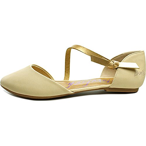 Blowfish Frisky Damen Rund Kunstleder Mary Janes Nude Old Mexico/Pearl Gold Dye